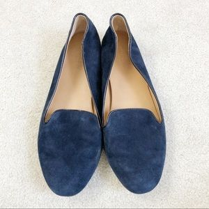 J crew Cora Navy suede loafers